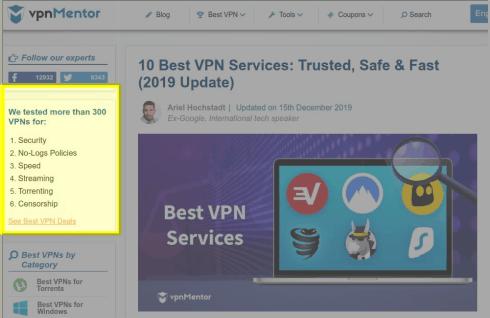 VPN list